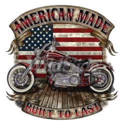 Bikers-Custom : T shirt biker built to last