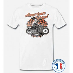 Bikers-Custom : T shirt biker american speed