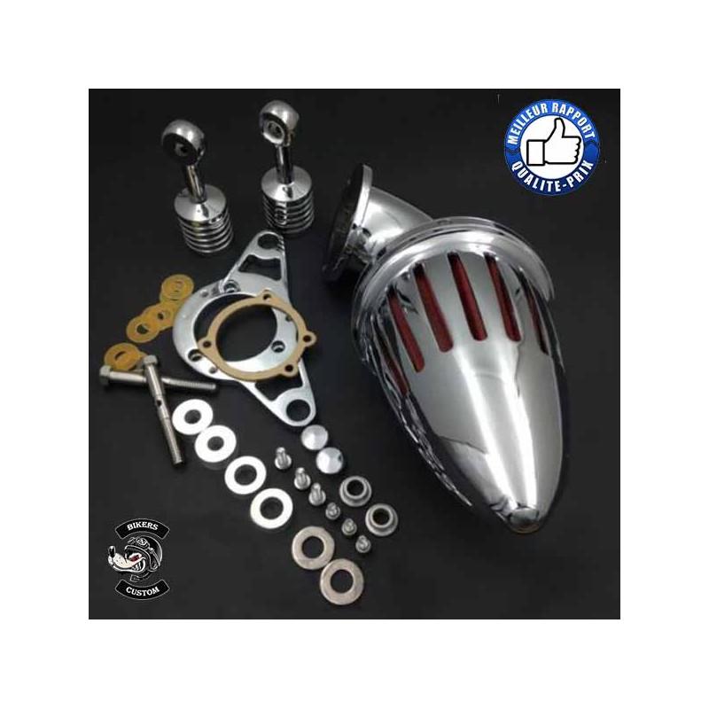 Bikers-Custom : Filtre à air obus pour Harley injection 2001-2009