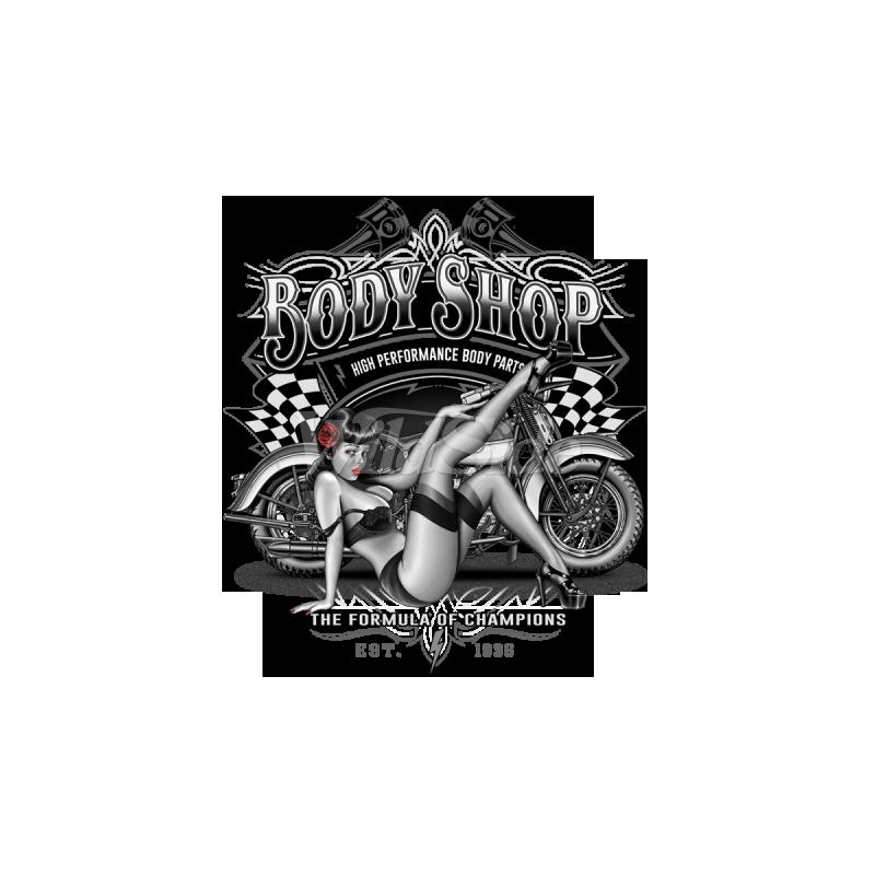 Bikers-Custom : T shirt biker body parts