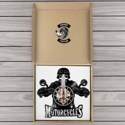 Horloge murale the skull biker