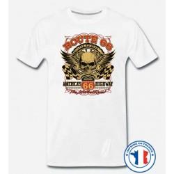 Bikers-Custom : T shirt biker historic route 66