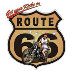 Bikers-Custom : T shirt biker route 66 moto
