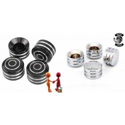 CACHES BOULONS DE CULASSE ROUNDED HARLEY DAVIDSON