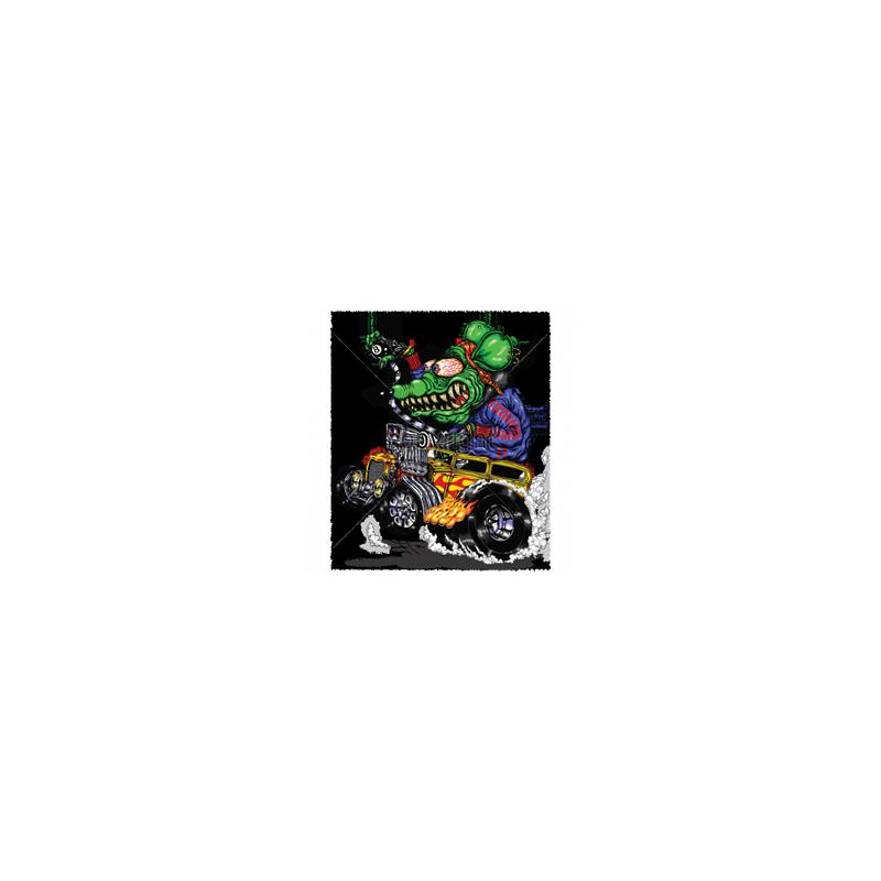 Bikers-Custom : Débardeur homme GREEN MONSTER YELLOW HOT ROD