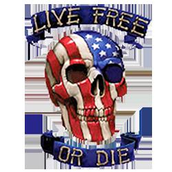 Bikers-Custom : Débardeur homme LIVE FREE OR DIE
