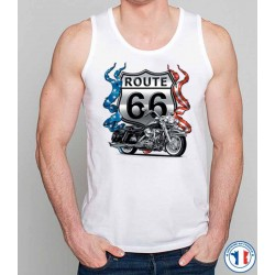 Bikers-Custom : Débardeur homme ROAD 66
