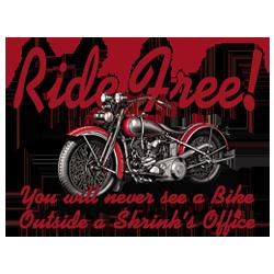 Bikers-Custom : Débardeur homme RIDE FREE !