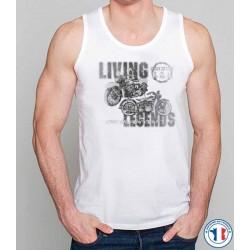 Bikers-Custom : Débardeur homme LIVE THE LEGEND