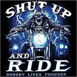 Bikers-Custom : Débardeur homme SHUT UP AND RIDE