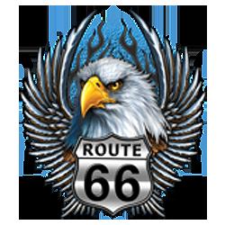 Bikers-Custom : Débardeur homme ROAD 66 EAGLE