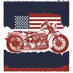 Bikers-Custom : Débardeur homme AMERICAN PRIDE BIKE