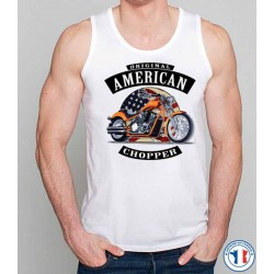 Bikers-Custom : Débardeur homme AMERICAN CHOPPER