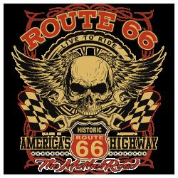 Bikers-Custom : Débardeur homme HISTORIC ROUTE 66
