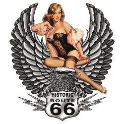 Bikers-Custom : Débardeur homme PIN UP 66