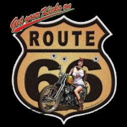 Bikers-Custom : Débardeur homme ROUTE 66 MOTO