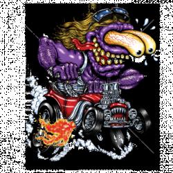 Bikers-Custom : Sweat biker PURPLE MONSTER RED HOT ROD