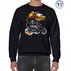 Bikers-Custom : Sweat biker YELLOW MONSTER ORANGE CYCLE.