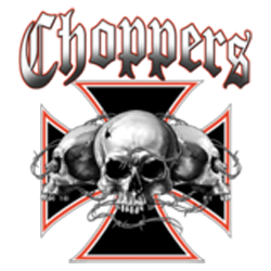 Bikers-Custom : Sweat biker SKULL CHOPPERS