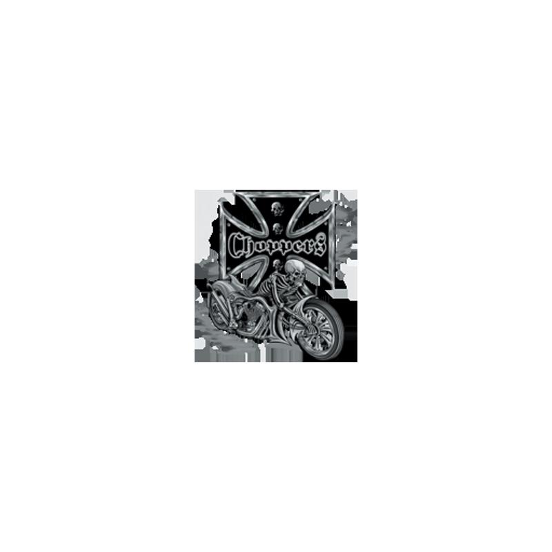 Bikers-Custom : Sweat biker BIKE AND SKULL