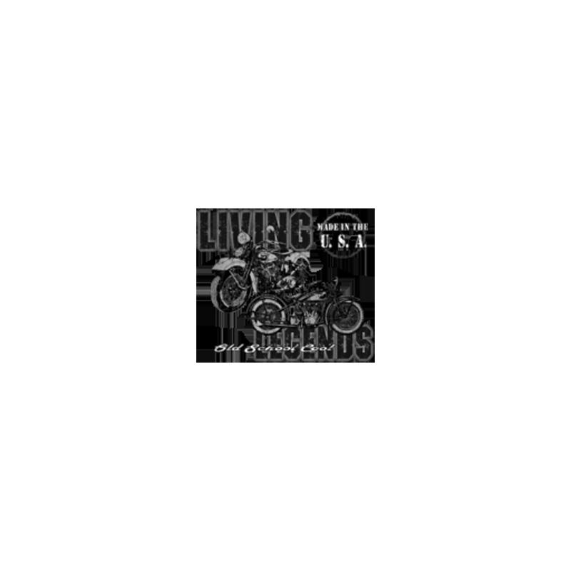 Bikers-Custom : Sweat biker LIVE THE LEGEND