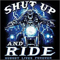 Bikers-Custom : Sweat biker SHUT UP AND RIDE
