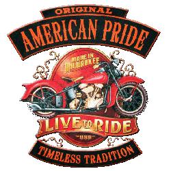 Bikers-Custom : Sweat biker AMERICAN PRIDE