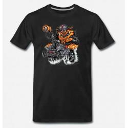 Bikers-Custom : T shirt biker hot rod pig