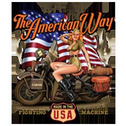 Bikers-Custom : Sweat biker AMERICAN WAY BABE