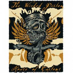 Bikers-Custom : Sweat biker WICKET PISTON