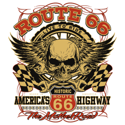 Bikers-Custom : Sweat biker HISTORIC ROUTE 66