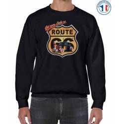 Bikers-Custom : Sweat biker ROUTE 66 HOT ROD