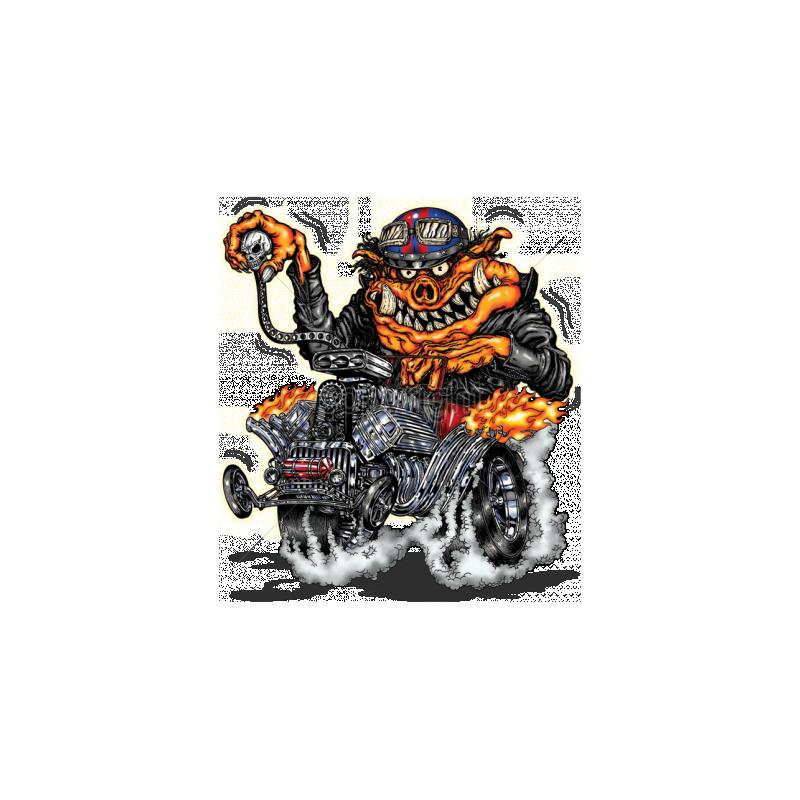 Bikers-Custom : Sweat zippé HOT ROD PIG