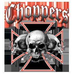 Bikers-Custom : Sweat zippé SKULL CHOPPERS