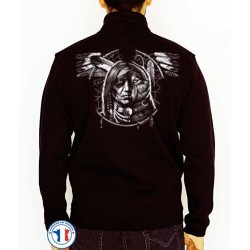 Bikers-Custom : Sweat zippé WOLF SPIRIT