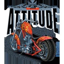 Bikers-Custom : Sweat zippé ATTITUDE