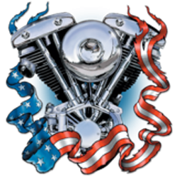 Bikers-Custom : Sweat zippé 1340 SHOVEL