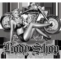 Bikers-Custom : Sweat zippé BODY SHOP