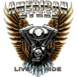 Bikers-Custom : Sweat zippé AMERICAN STEEL