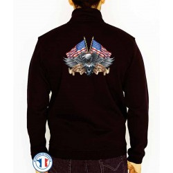 Bikers-Custom : Sweat zippé WILD BREED