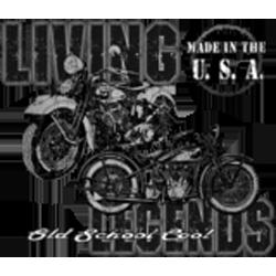 Bikers-Custom : Sweat zippé LIVE THE LEGEND