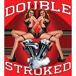Bikers-Custom : Sweat zippé DOUBLE STROKED