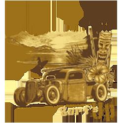 Bikers-Custom : Sweat zippé SURF'S UP