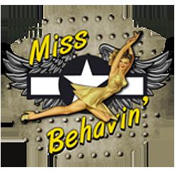 Bikers-Custom : Sweat zippé MISS BEHAVIN