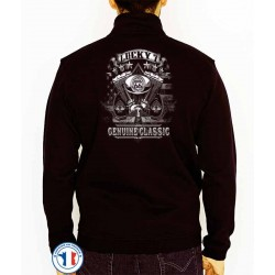 Bikers-Custom : Sweat zippé LUCKY 7