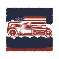 Bikers-Custom : Sweat zippé AMERICAN PRIDE GARAGE