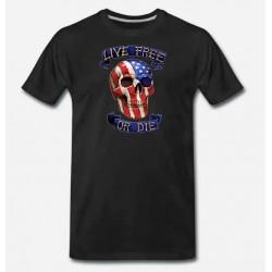 Bikers-Custom : T shirt live free or die