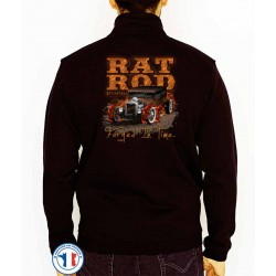 Bikers-Custom : Sweat zippé RAT ROD