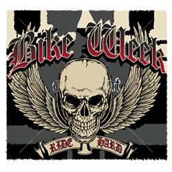 Bikers-Custom : Sweat zippé BIKE WEEK