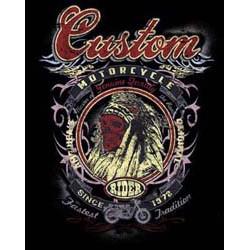 Bikers-Custom : Sweat zippé CUSTOM INDIAN